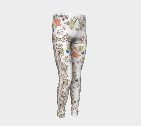 Oriental Pink flower Leggings