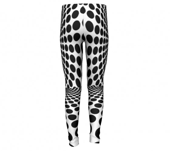 Black Dot , Dizzy Eco-friendly High Performance Printed leggings-[stardust]