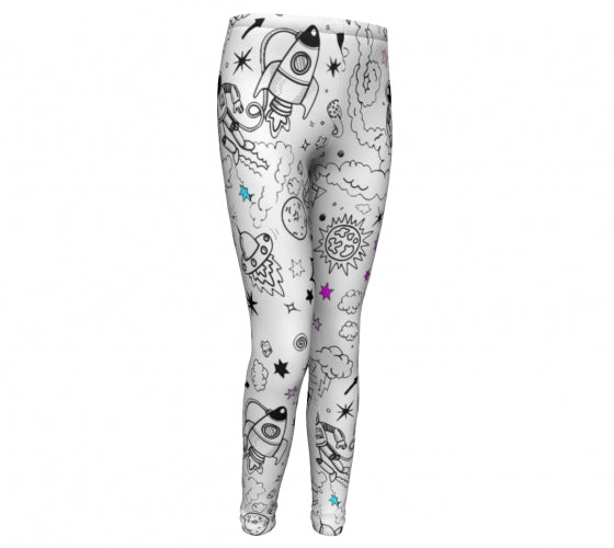 Ultra Galactic Performance Leggings-[stardust]