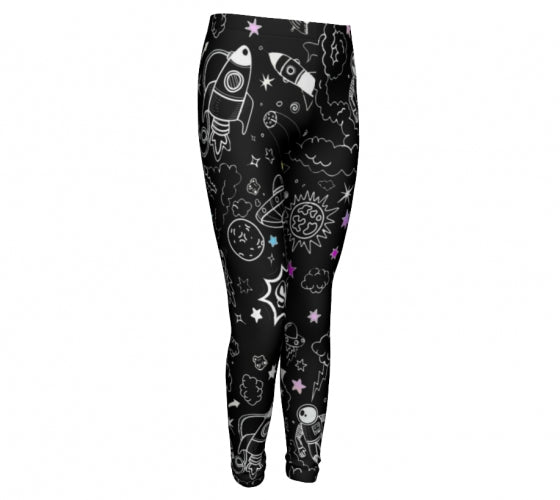 Ultra Galactic Night, Eco Friendly Performance leggings-[stardust]