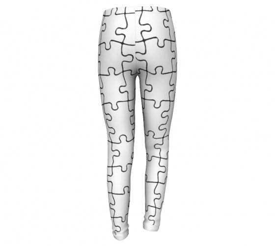 Puzzle Mania, Printed Eco Friendly Leggings-[stardust]