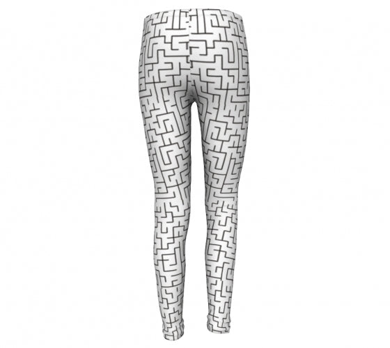 A- Maze me, Super Stretch Eco Friendly Poly fiber Performance leggings-[stardust]