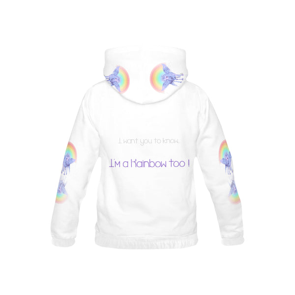 I'm a Rainbow too, All Over Print Hoodie-[stardust]