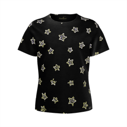 Neon Star Super soft, Eco Friendly T-Shirt-[stardust]