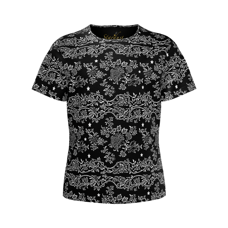 Lace N Stars, All Black Eco friendly T shirt
