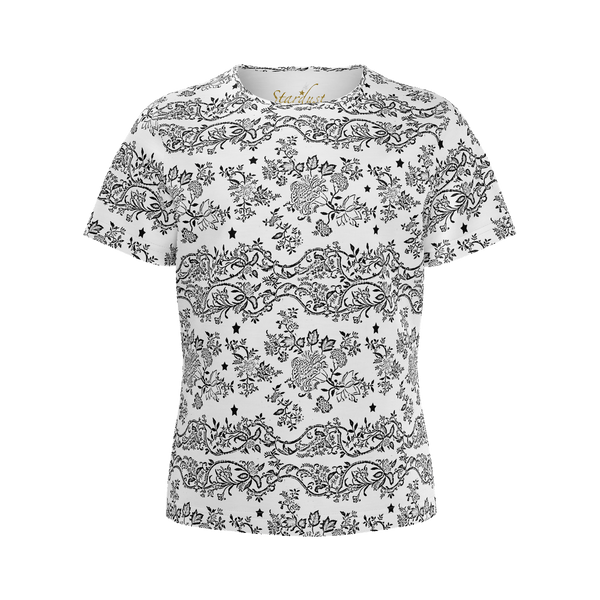 Lace N Stars, All White Eco friendly T shirt