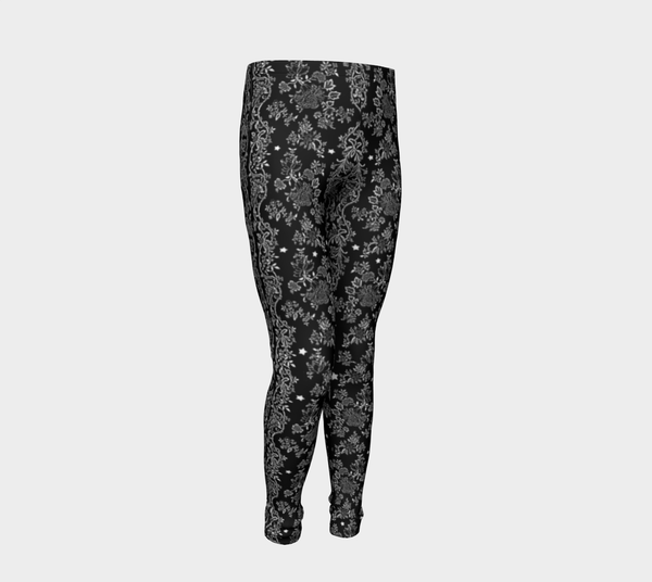 Lace N Stars, Black Eco friendly Leggings