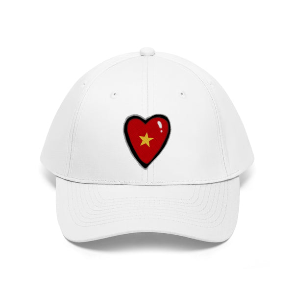 Unisex Twill cap with embroidered Stardust Heart