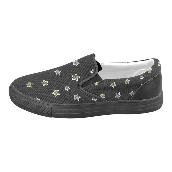 Neon Star, Slip-on Canvas Shoes-[stardust]