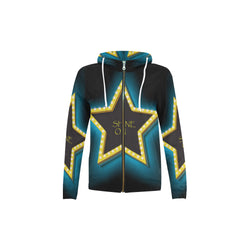 Shine On, All Over Print Hoodie with Zipper-[stardust]