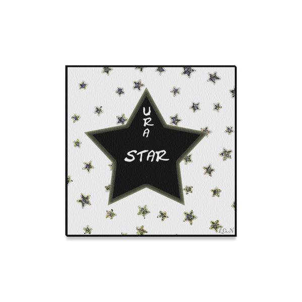 "U R A STAR  Wall Art on Canvas 16"" x16""-[stardust]"