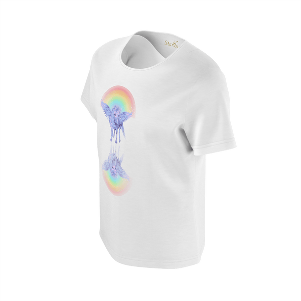 Unicorn Reflection, Eco Friendly Soft T-shirt-[stardust]