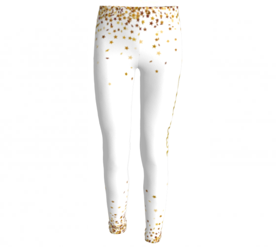 Stardust Star Burst, Eco Friendly Printed Leggings-[stardust]