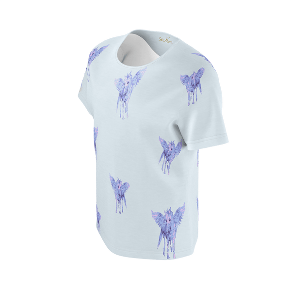 Stardust Alicorn Sky Blue, Eco Friendly Super soft T-Shirt-[stardust]