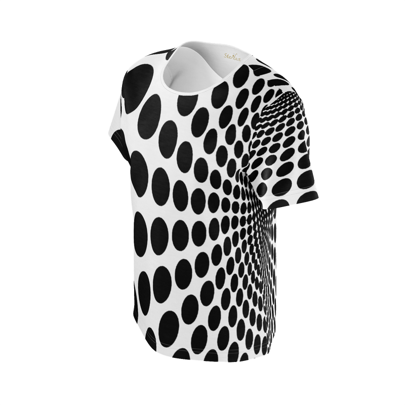 Black Dot , Super soft, Eco Friendly T-Shirt-[stardust]