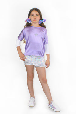 SuperNova Silk , Bat Sleeve Blouse-[stardust]