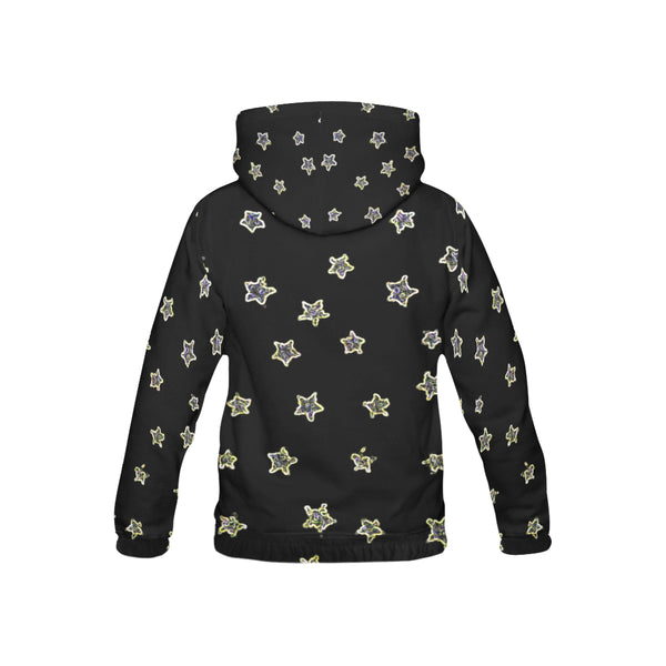 Neon Star, All Over Print Hoodie-[stardust]