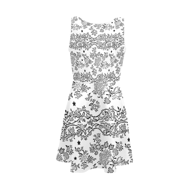 Lace N stars white, skater dress