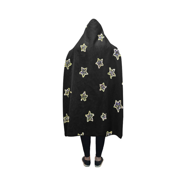 Neon Star Hooded Blanket-[stardust]