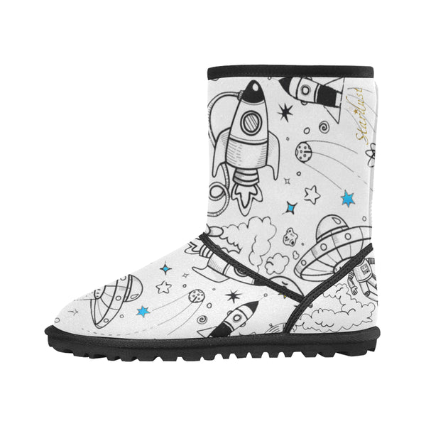 1Ultra Galactic White Snow boots-[stardust]