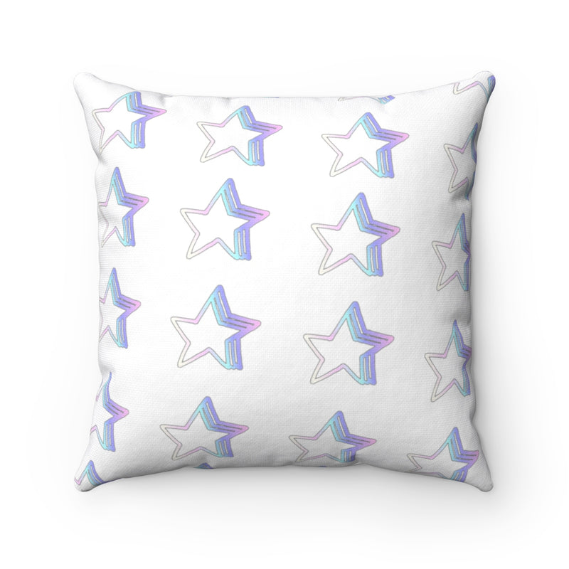 Starlight Pattern , Spun Polyester Square Pillow-[stardust]