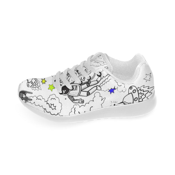 Ultra Galactic White Sneakers-[stardust]