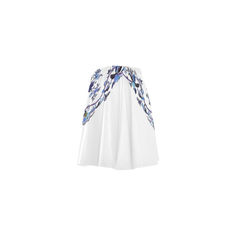 Oriental Blue flower, Skater skirt