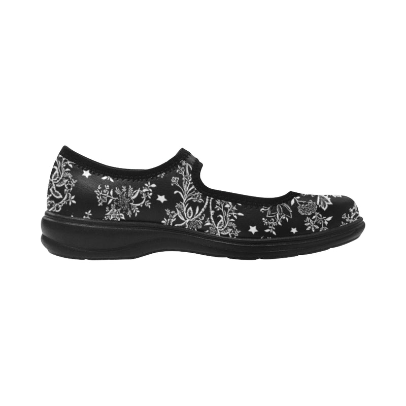 Lace N stars Black, Mary jane shoes