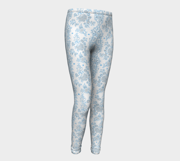 Blue Lace N stars, Eco friendly Leggings