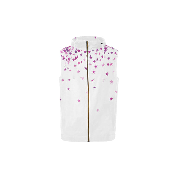 Rocker, All Over Print Full Zip Sleeveless Hoodie-[stardust]