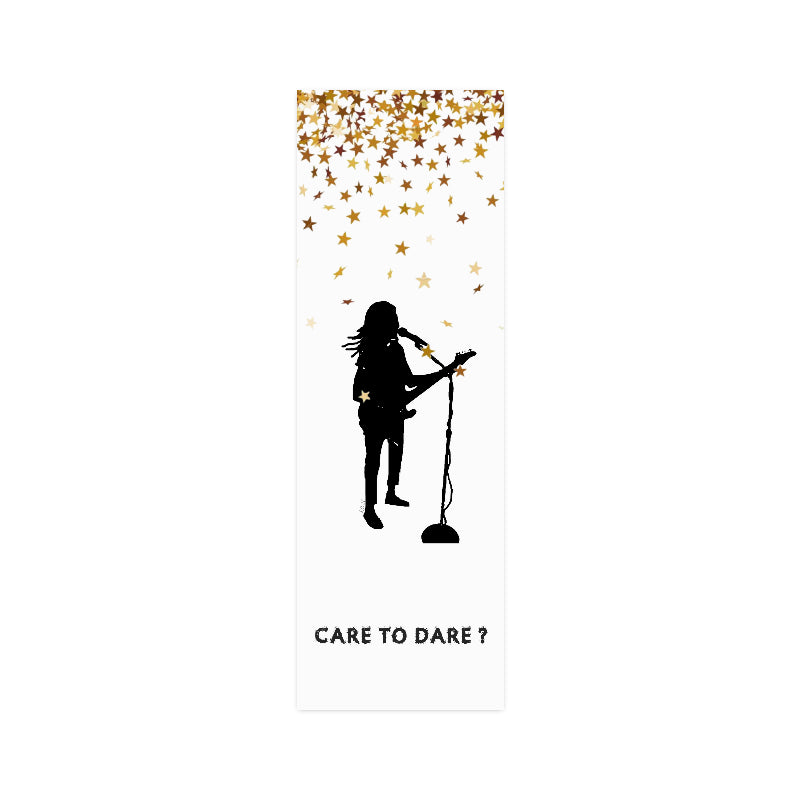 CARE TO DARE? SINGER Wall Art Poster-[stardust]