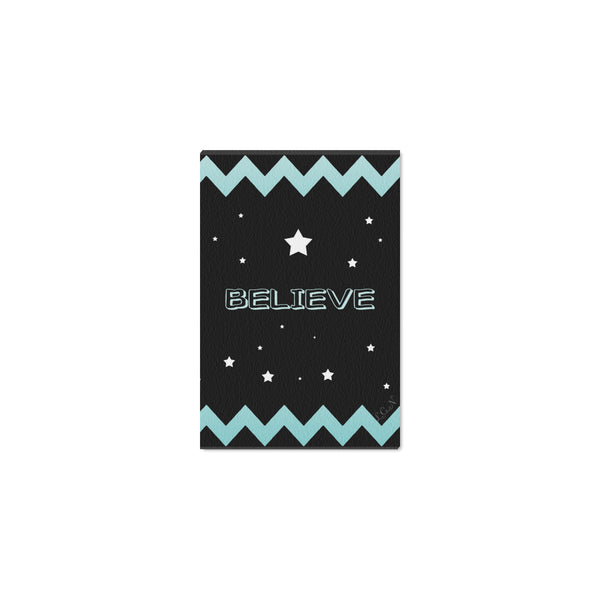 "BELIEVE, Framed Canvas Print 12"" x 8""-[stardust]"