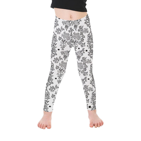 Lace N stars pattern Microfiber Leggings small