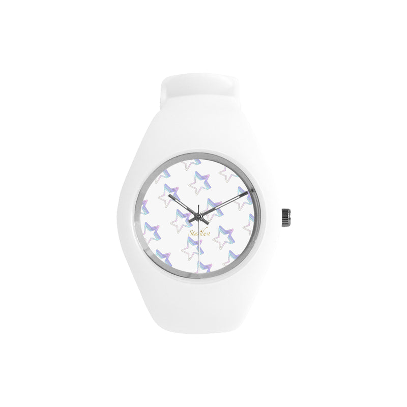 Starlight pattern watch White  Silicone Watch-[stardust]