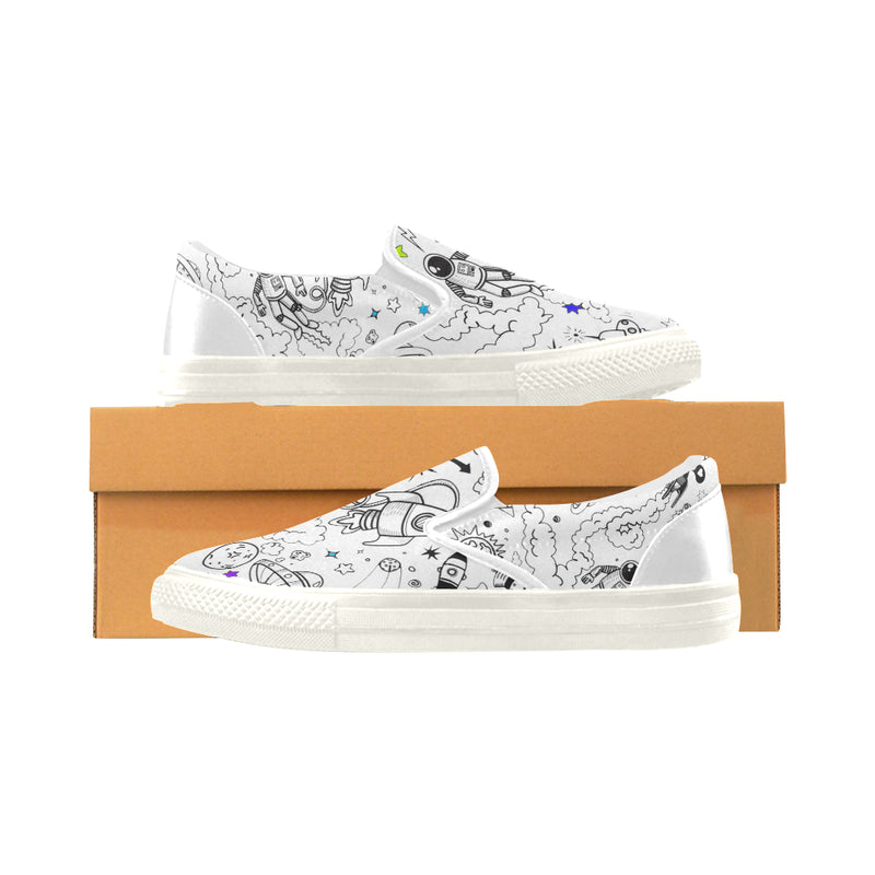 Ultra Galactic , White Slip-on Canvas Shoes-[stardust]