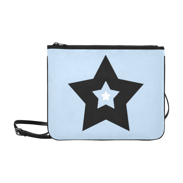 Bulky Star Slim Clutch in Light Blue color