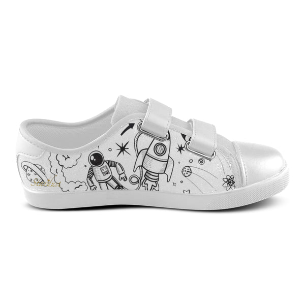 Ultra Galactic ,Velcro Canvas Shoes-[stardust]