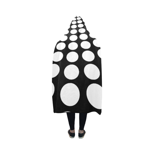 White Dots Hooded Blanket-[stardust]