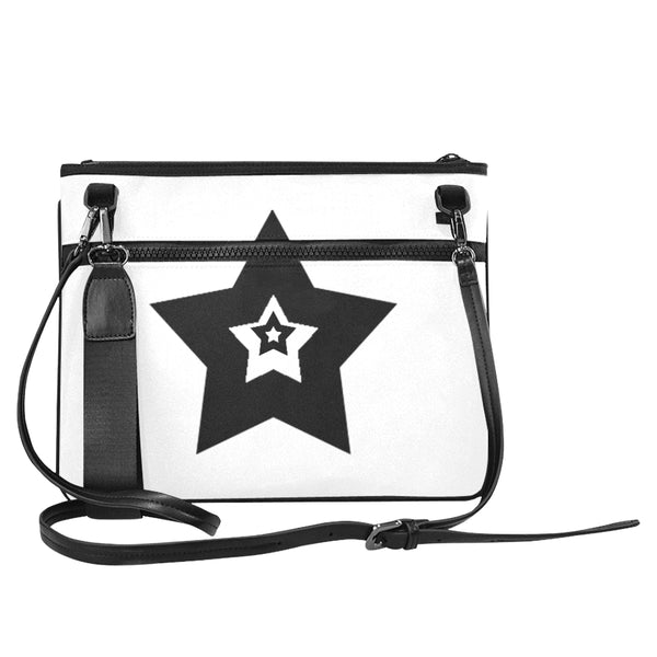 Bulky Star, White Slim Clutch Bag