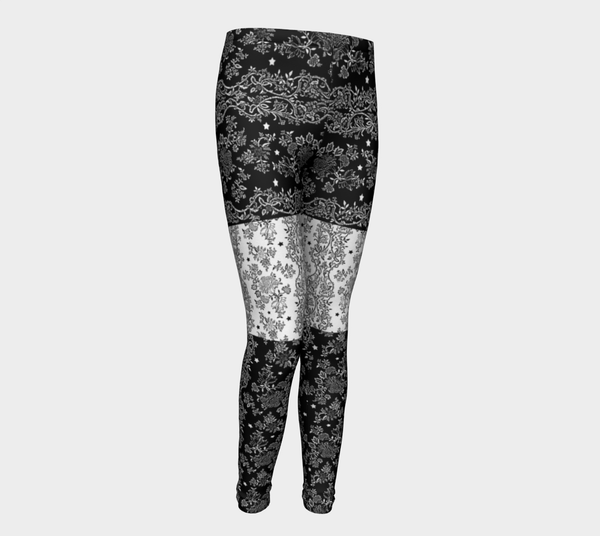 Lace N Stars Black and White Eco friendly Leggings