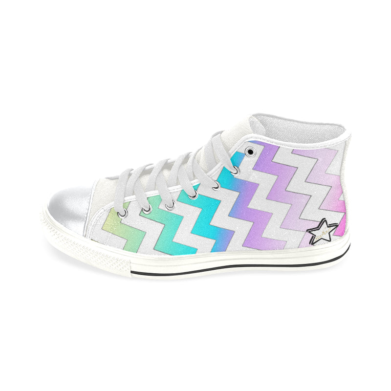 Rainbow stars lace up Canvas shoes