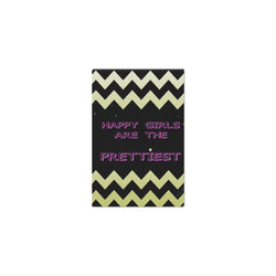 "HAPPY GIRLS ARE THE PRETTIEST,Framed Canvas Print 12"" x 8""-[stardust]"
