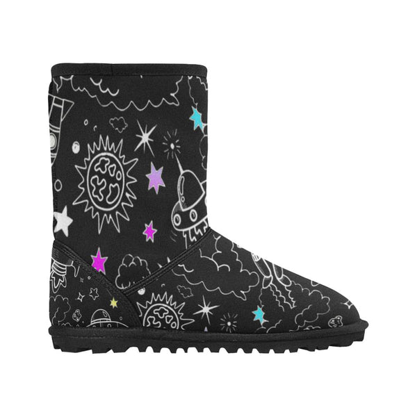 Ultra Galactic, Black Snow Boots-[stardust]