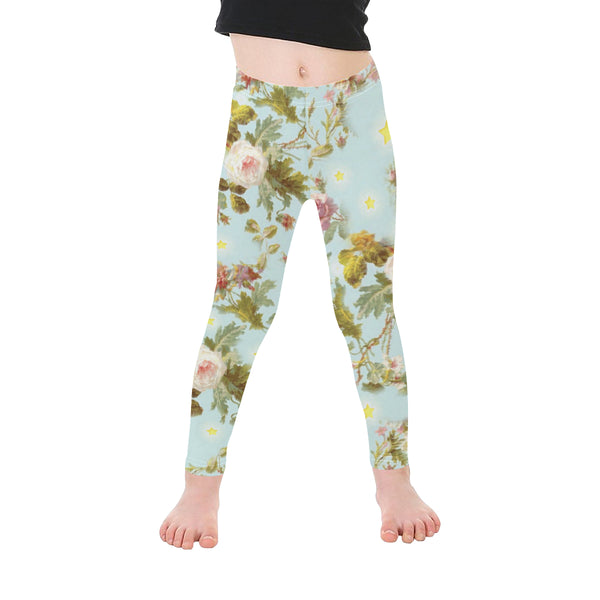Baroque flowers N Stars pattern Microfiber Leggings small