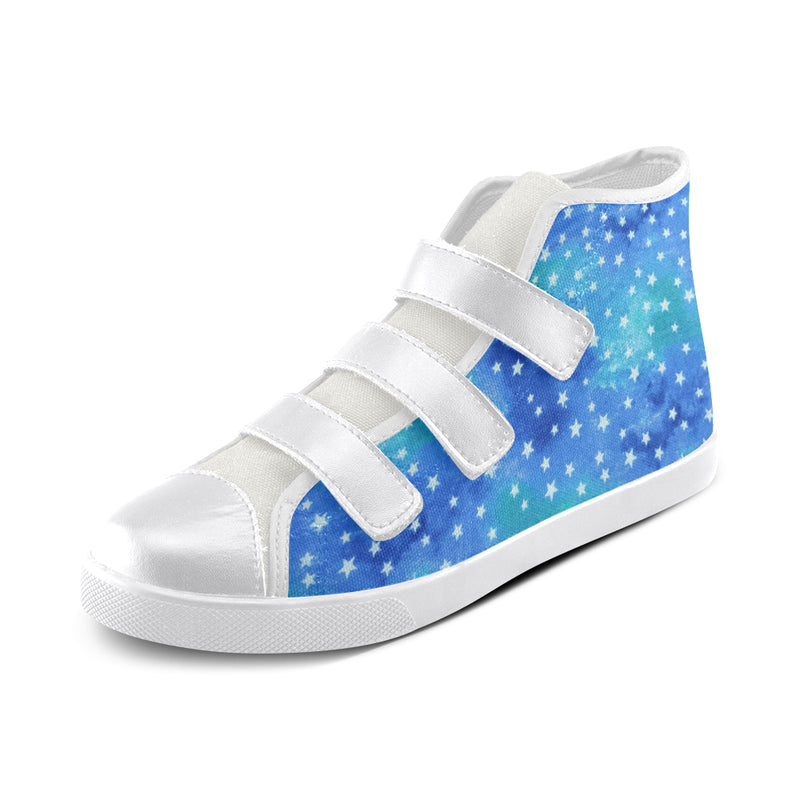 Starry Tie Dye velcro High Tops
