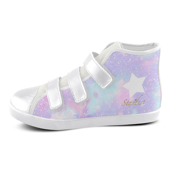 Galaxy , Velcro High Top Canvas Shoes-[stardust]