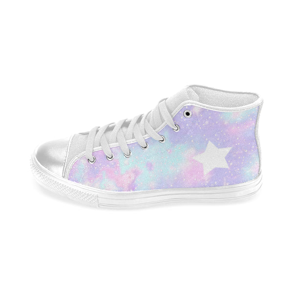 Galaxy , High Top Canvas Shoes-[stardust]