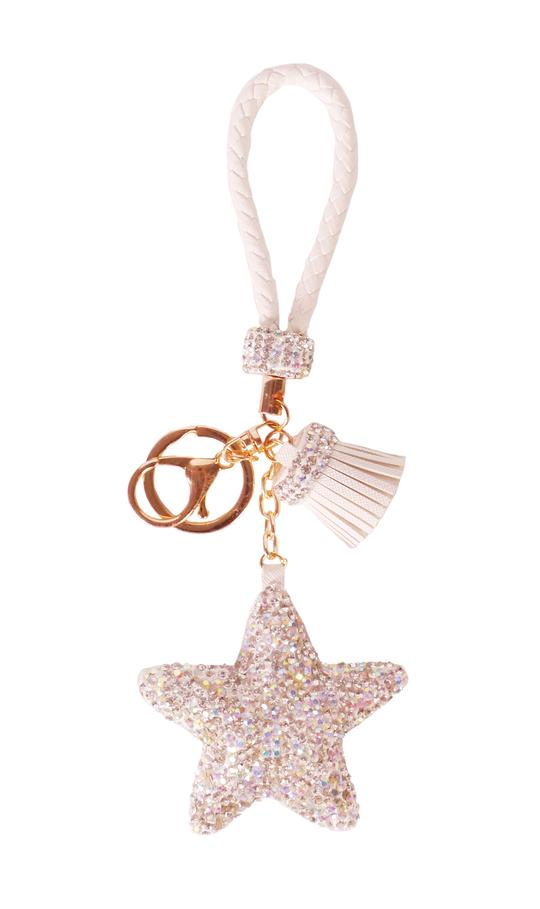 Diamond Charm Star - White
