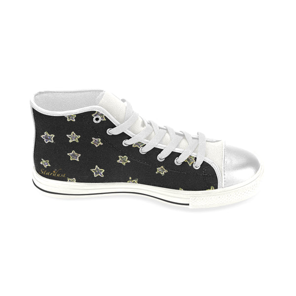 Neon Star , High Top Canvas Shoes-[stardust]