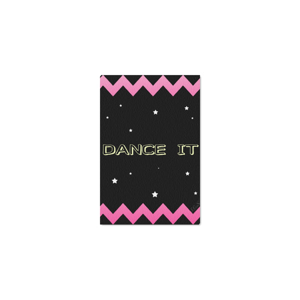 "DANCE IT,Framed Canvas Print 12"" x 8""-[stardust]"